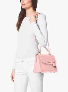 NWT~ MICHAEL KORS   Medium Saffiano Leather AVA Satchel  Purse Bag~Blossom