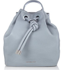 NWT Authentic Michael Kors  Leather Dalia Large Backpack Bag ~Dusty Blue $428.00