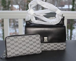 BNWT~ Michael Kors Leather Natalie Heritage Medium Messenger Purse & Wristlet