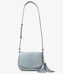 BNWT~Michael Kors Elyse Large Saddle Bag Purse  ~DUSTY BLUE