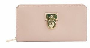 BNWT~ Michael Kors Hamilton Traveler Ballet Saffiano Leather Zip Around Wallet