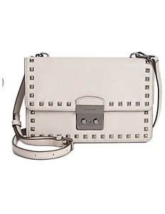 BNWT~ Michael Kors Large Sloan Studded Gusset Crossbody~ Cement