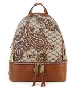 NWT~ AUTHENTIC Michael Kors STUDIO HERITAGE Paisley Rhea Medium  Backpack  $358