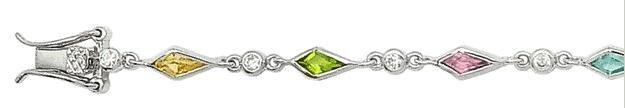 Multi-Color CZ Bracelet