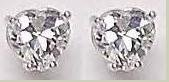 2 CT CZ Heart Shaped Earrings