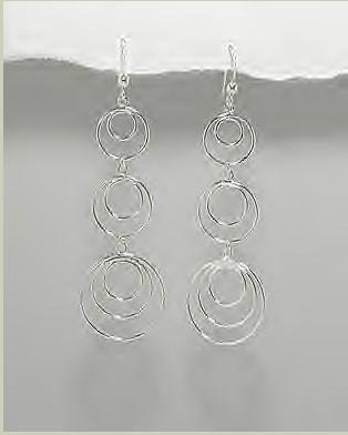 Long Multi-Circle Earrings