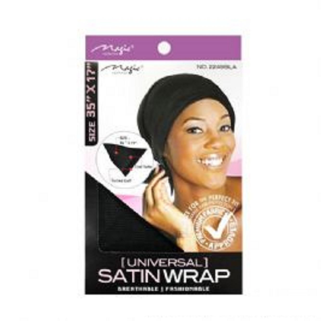 Magic Collection Universal Satin Wrap-2249BLA