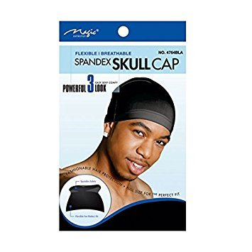 Magic Collection Spandex Expandable Skull Cap-4764BLA