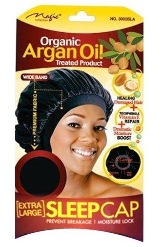 Magic Collection Organic Argan OIl Treated Extra Large Sleep Cap-3002BLA