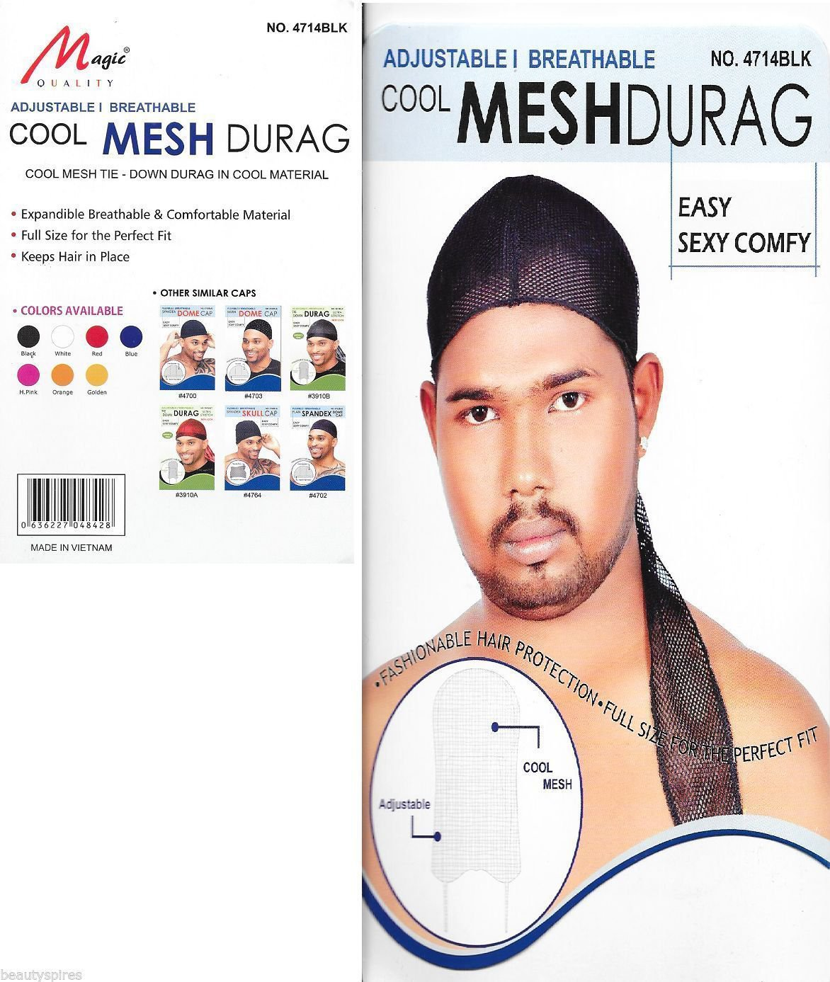 Murry Collection Cool Mesh Durag-4714BLK
