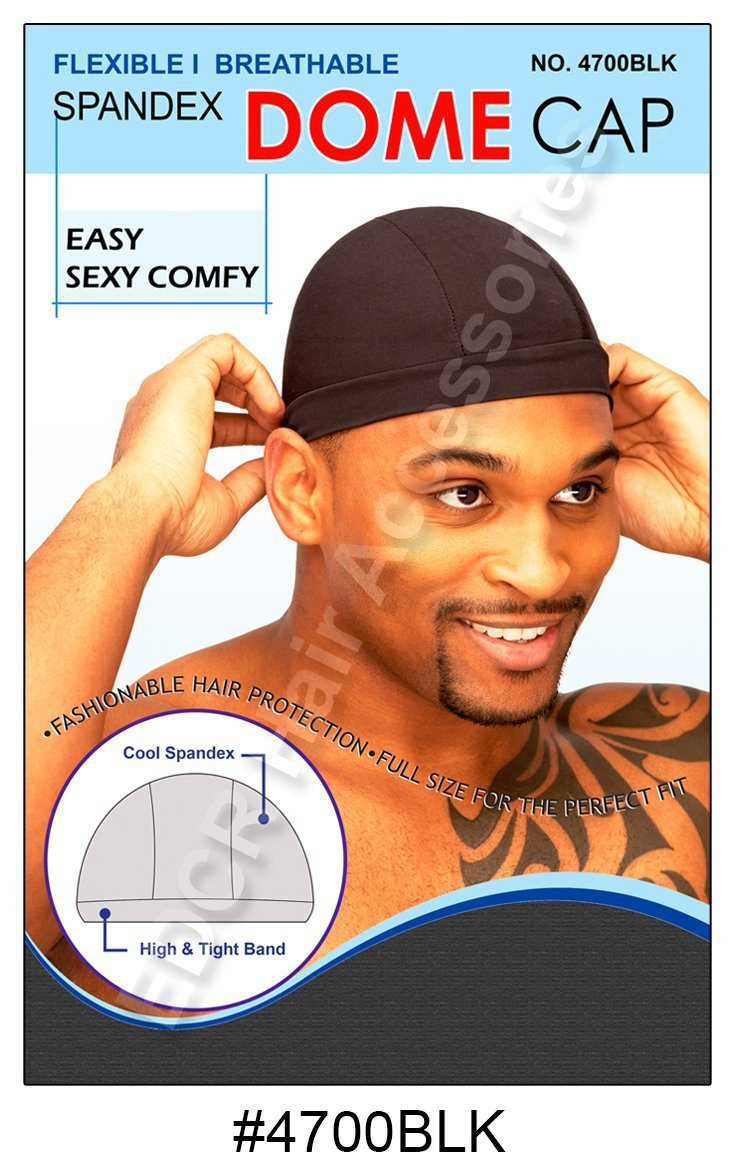 Murry Collection Spandex Dome Cap-4700BLK