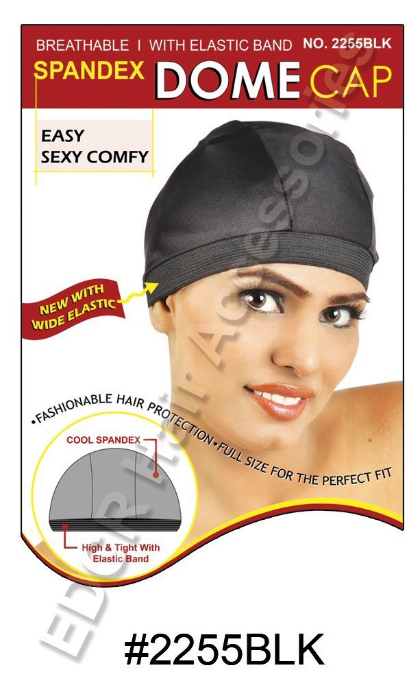 Murry Collection Spandex Dome Cap-2255BLK