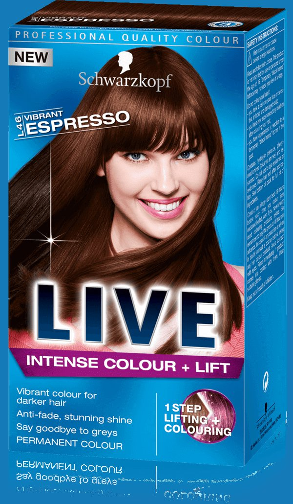 Schwarzkopf Live Intense Colour + Lift- L46 Vibrant Espesso