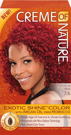 Creme Of Nature 7.6 Intensive Red Exotic Shine Hair Color