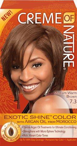 Creme Of Nature 7.3 Medium Warm Brown Exotic Shine Hair Color