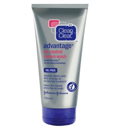 Clean & Clear Advantage oil control cream wash