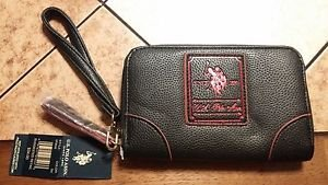 NEW U.S. POLO ASSN. Black Zip Around Ladies WALLET Free Shipping