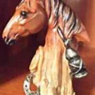 Horse Head Brown/Tan Figurine 5in x 3in new without tag