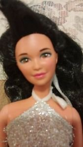 1980s  Barbie Doll in silver mnini skirt outfit