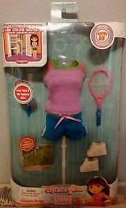 2009 Mattel Doras Explorer Girls Sports for Styles Outfit 027084712391