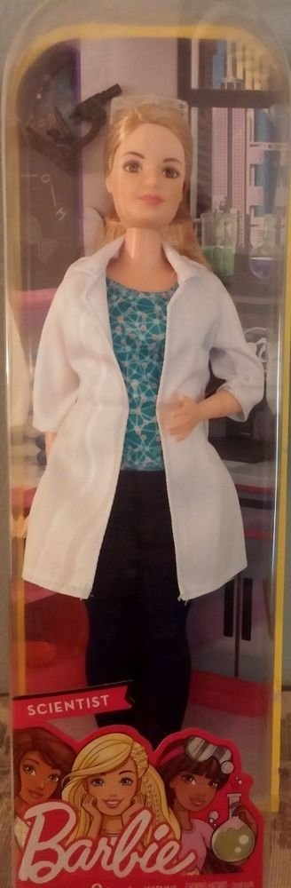 2016 Mattel Barbie Scientist Doll NIB 88796136803
