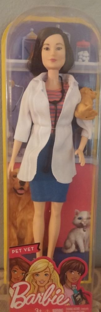 2016 Mattel Barbie Pet Veterinarian Doll NIB 887961368031