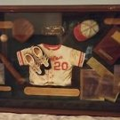 The Game of Baseball Glass Framed Shadow Box Wall Display