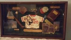 The Game of Baseball Glass Framed Shadow Box Wall Display