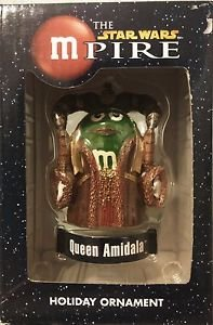 "The Star Wars mPire Queen Amidala M&M Holiday Ornament 3"""