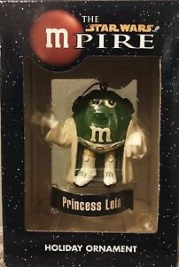 "The Star Wars mPire Princess Leia M&M Holiday Ornament 3"""