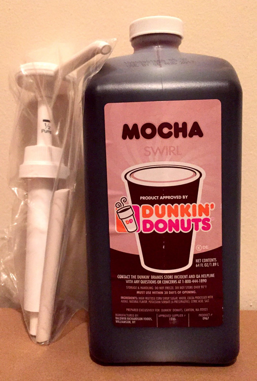 Dunkin Donuts Mocha Swirl With Pump