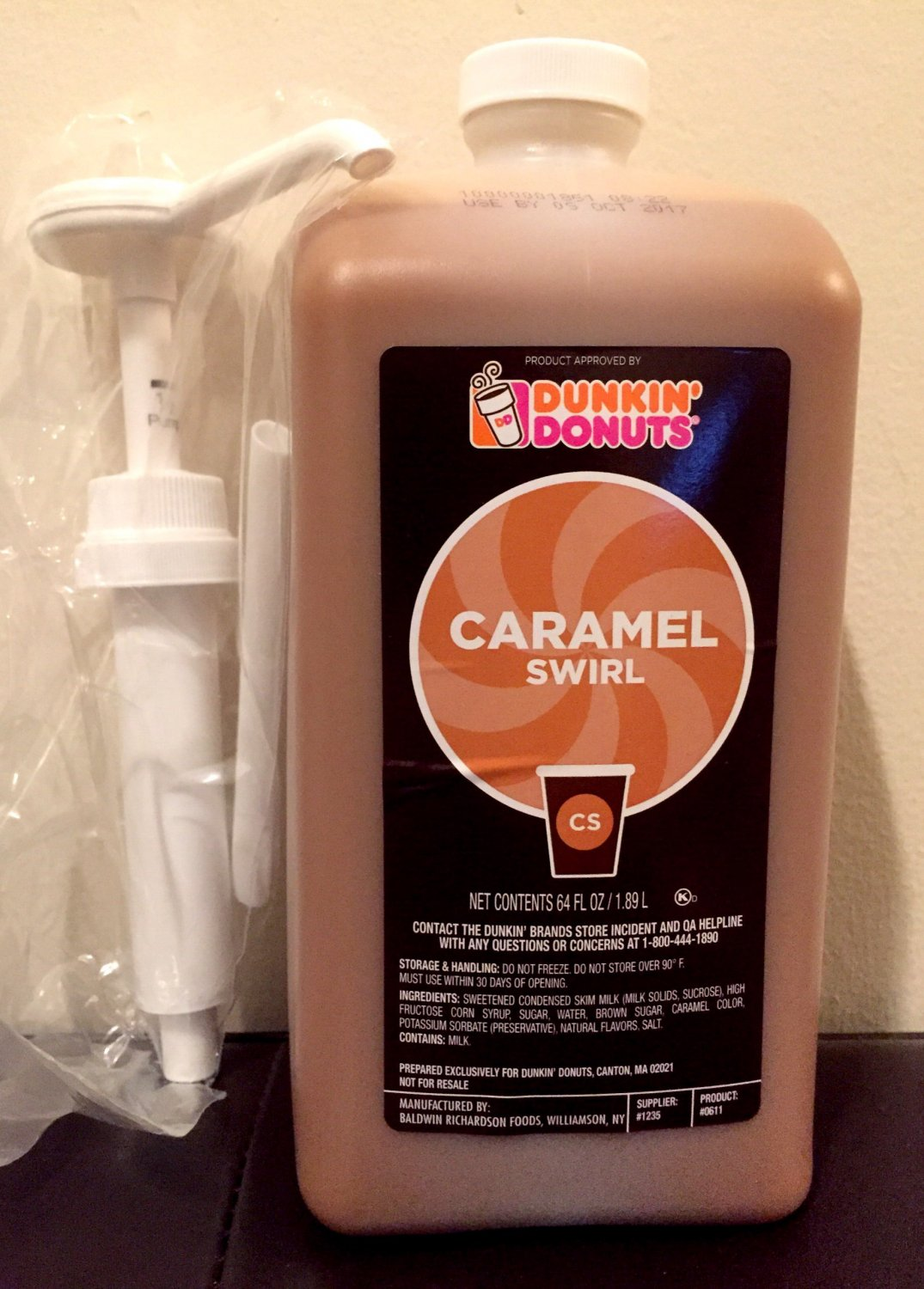 Dunkin Donuts Caramel Swirl with Pump