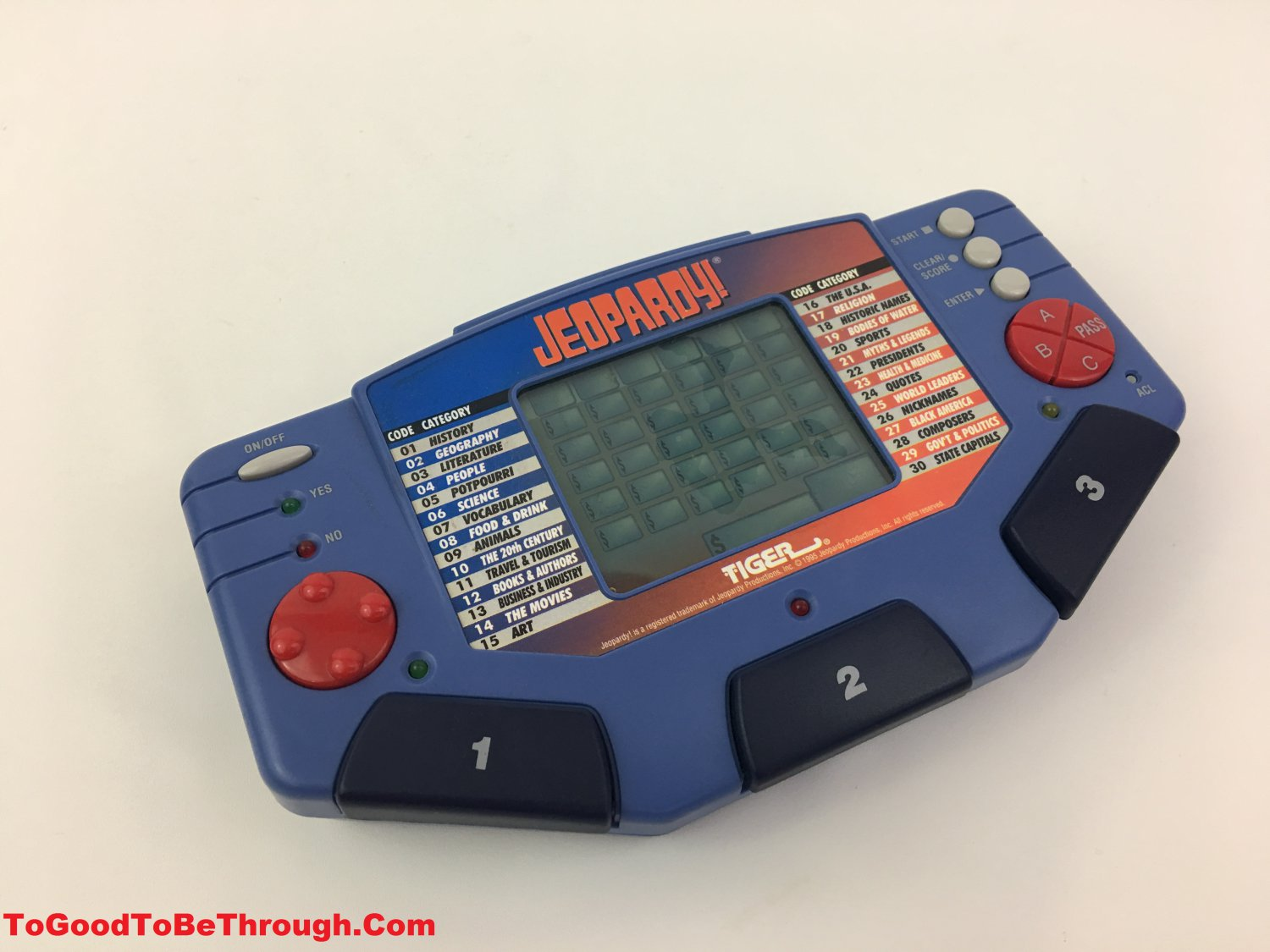 Tiger Jeopardy! Electronic LCD Game (7-581)