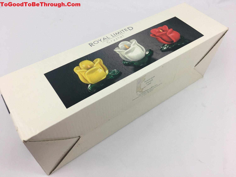 Royal Limited Crystal Tulip Flower Tea Light Votive