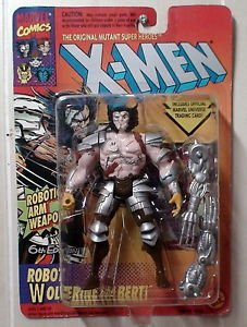 Robot Wolverine Uncanny X-Men Marvel Comics Toy Biz Figure 1994