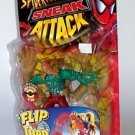 1998 Spiderman Sneak Attack Sandman Flip n Trap Figure ToyBiz Complete