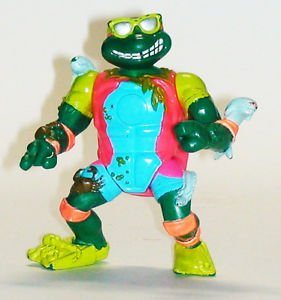 Teenage Mutant Ninja Turtles Michaelangelo Sewer Surfin 90s era Playmates TMNT