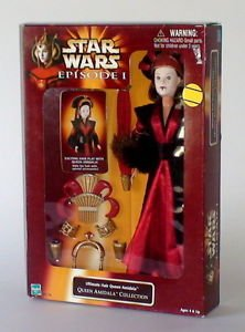 Star Wars Episode 1 Ultimate Hair Queen Amidala Doll Hasbro