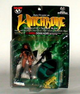 Moore Action Collectables Obsidian Witchblade 1999 Black Cape and suit new