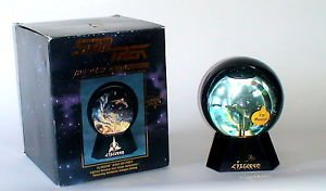 Star Trek The Next Generation Klingon Bird of Prey Snow Globe 1994
