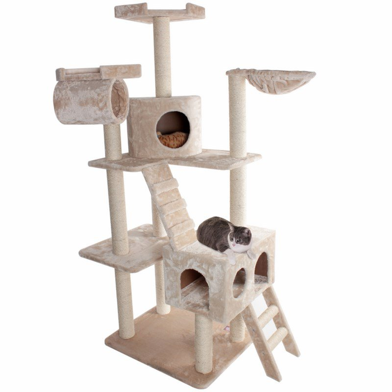Majestic Pet Products 73 inches Bungalow Cat Tree