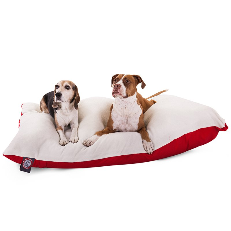 Majestic Pet Products 42x60 Red Rectangle Dog Bed-Extra Large