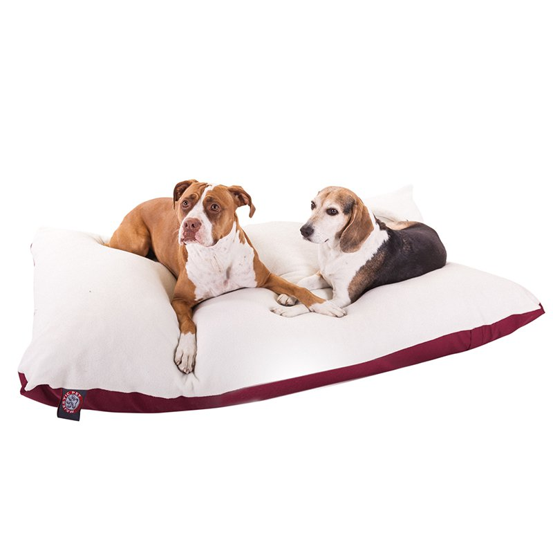 Majestic Pet Products 42x60 Burgundy Rectangle Dog Bed-Extra Large
