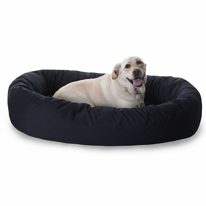 Majestic Pet Products 52-inch Black Bagel Bed