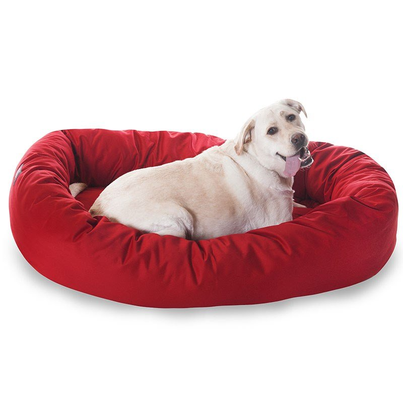 Majestic Pet Products 52-inch Red Bagel Bed