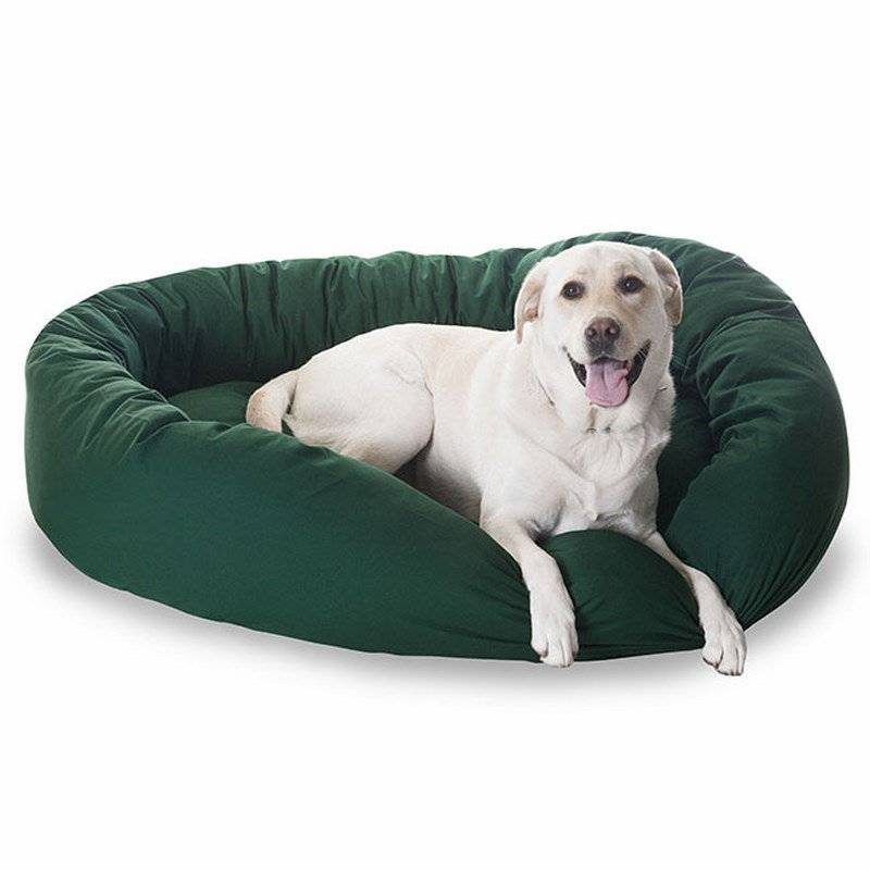 Majestic Pet Products 40-inch Green Bagel Bed