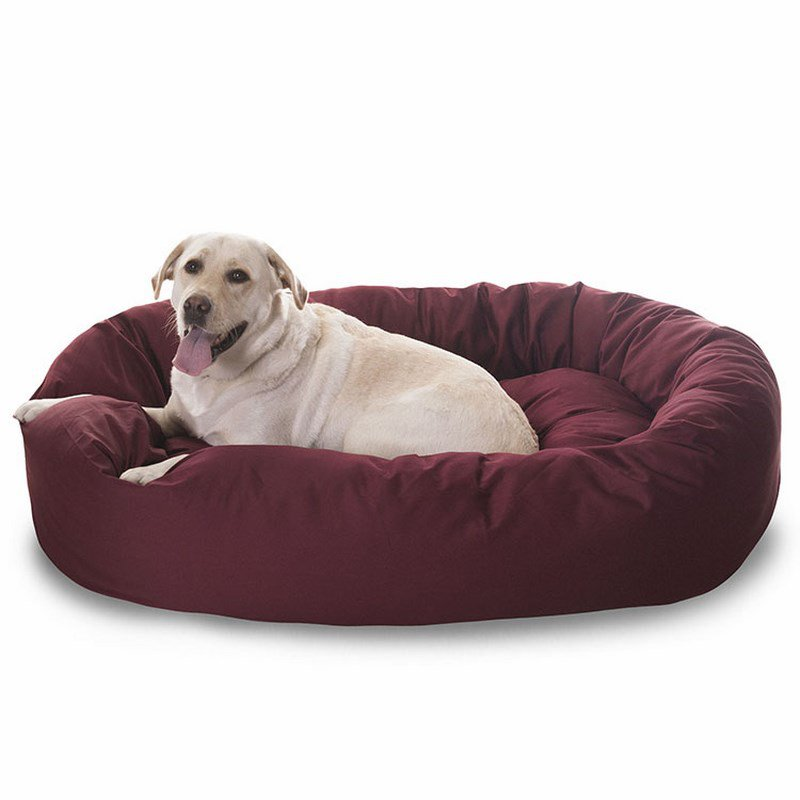 Majestic Pet Products 40-inch Burgundy Bagel Bed