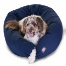 Majestic Pet Products 52-inch Blue & Sherpa Bagel Bed