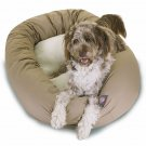 Majestic Pet Products 52-inch Khaki & Sherpa Bagel Bed