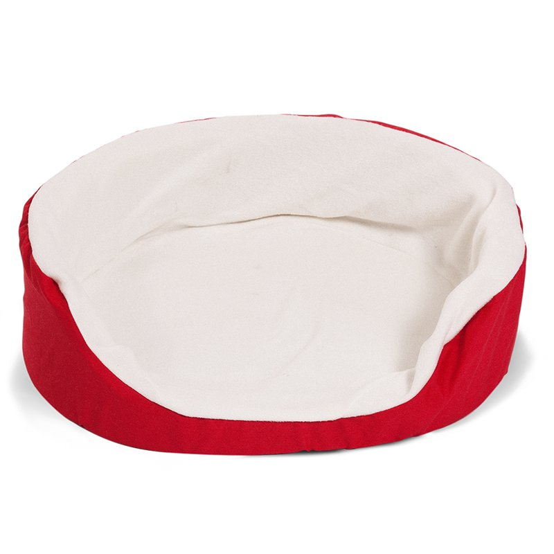 Majestic Pet Products 23x18 inches Red Lounger Dog Bed-Small